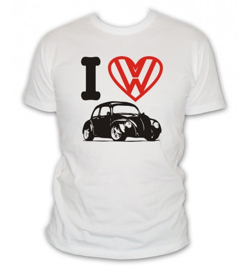 T-shirt I Love VW Coccinelle ¾
