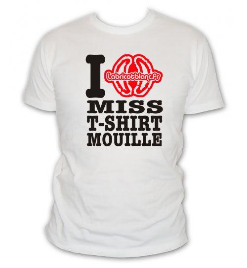 J'aime miss t-shirt mouillé