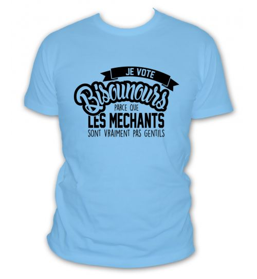 t-shirt Je vote Bisounours