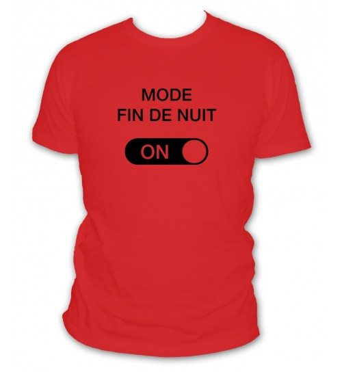 Tee shirt mode nuit activé