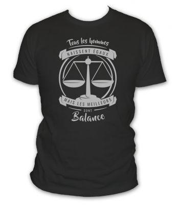 T-shirt balance signe astrologique
