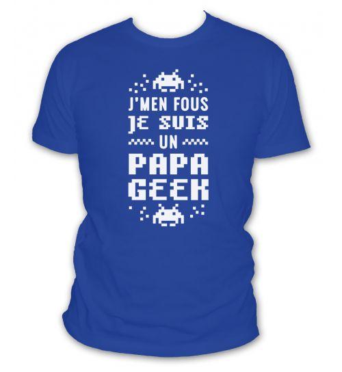 Mon Papa Est Un Geek T-Shirt B/éb/é