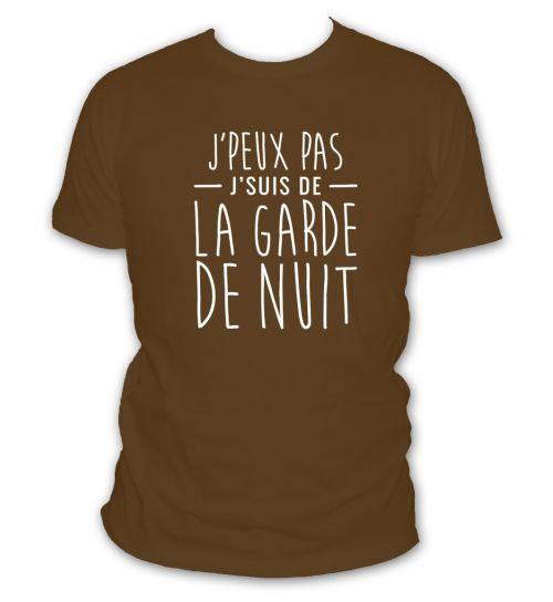 t-shirt j'peux pas j'suis de la garde de nuit