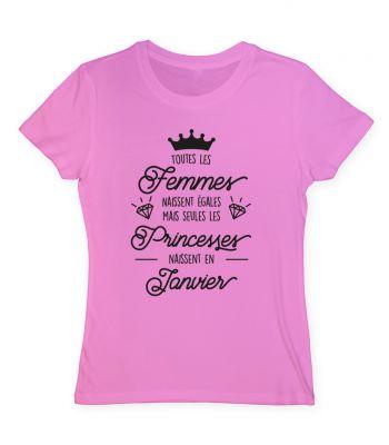Toutes les femmes naissent égales mais seules les princesses naissent en Janvier