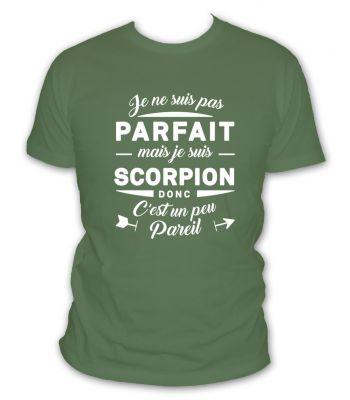 Tshirt je suis scorpion