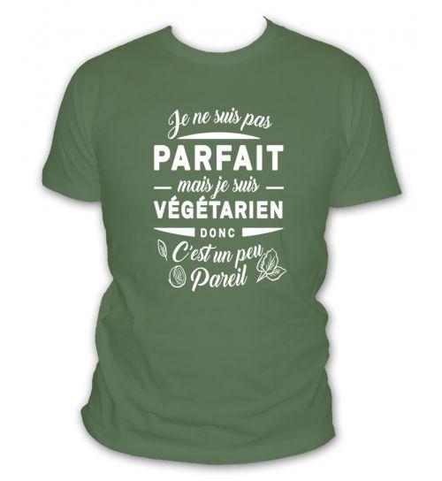 Tee shirt je suis vegetarien
