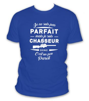 Tee shirt je suis chasseur