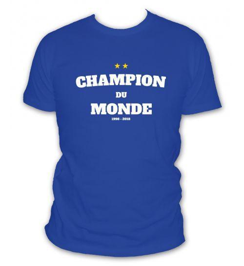 Tee shirt Champion du monde 2018