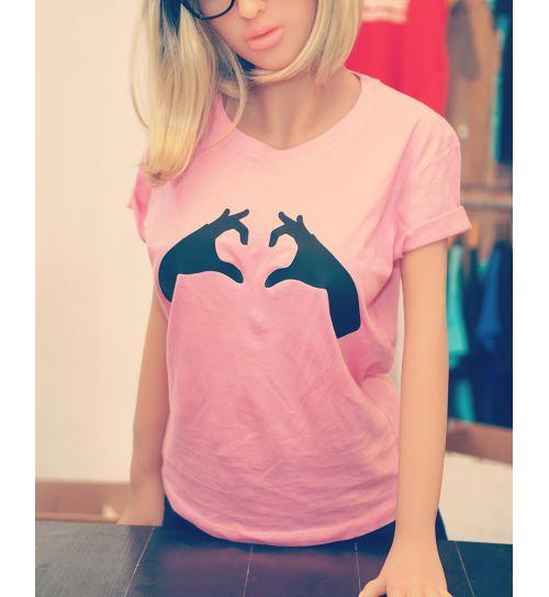 T-shirt Mains coeur