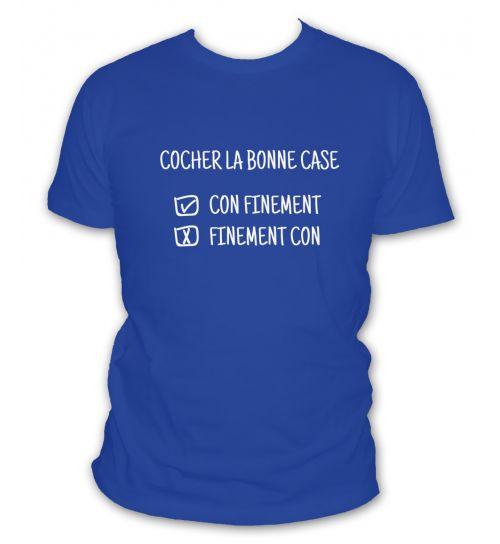 T-shirt Cocher la bonne case
