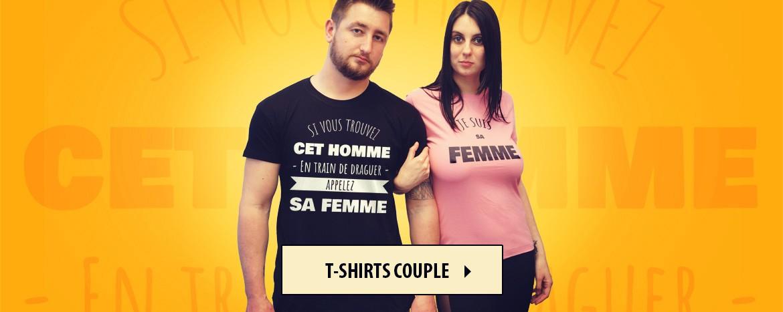 T-shirts rigolo pour couples