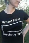 Batterie faible (F)