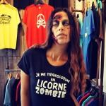 Je me transforme en licorne zombie